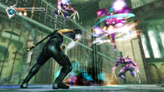 Yes, all these images are from the PS3 re-release.  It's almost as hard as the game to find original Xbox images of Ninja Gaiden.