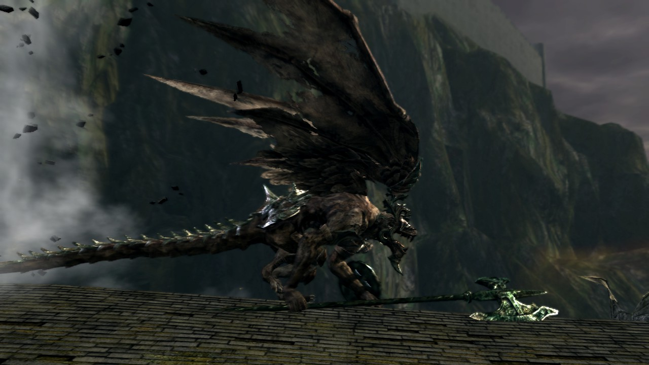 dark souls how to cut tail of gargoyle