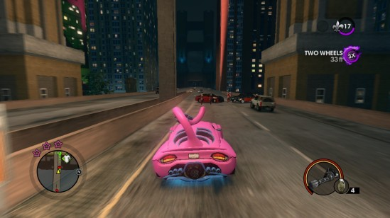 saints row the third driving