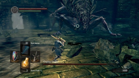 dark souls 10 depths gaping dragon fight 1
