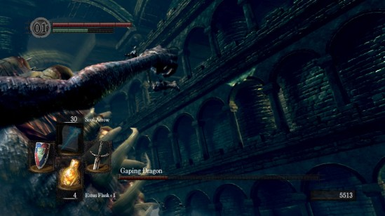 dark souls 10 depths gaping dragon fight 3