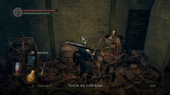 dark souls 10 depths laurentius barrel