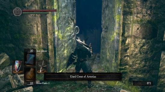 dark souls 9 opening door of artorias