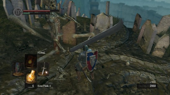 This is actually a picture of him dying, not spiking a sword through my head.