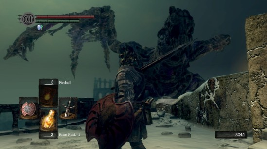 Dark Souls Undead Dragon Fight