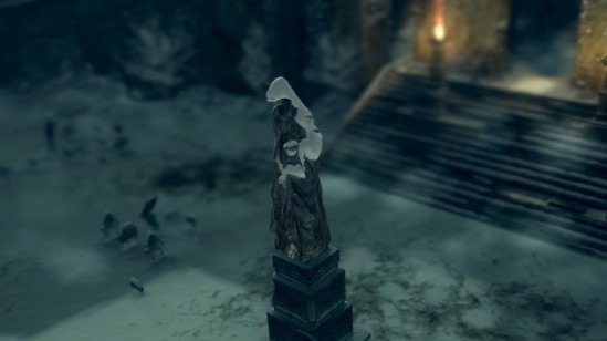 Dark Souls Painted World of Ariamis Statue Turning