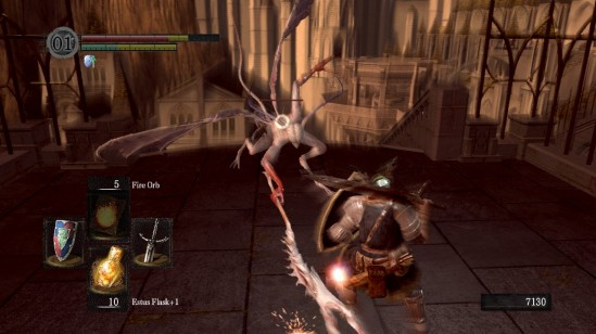 dark souls anor londo bat wing demon fight